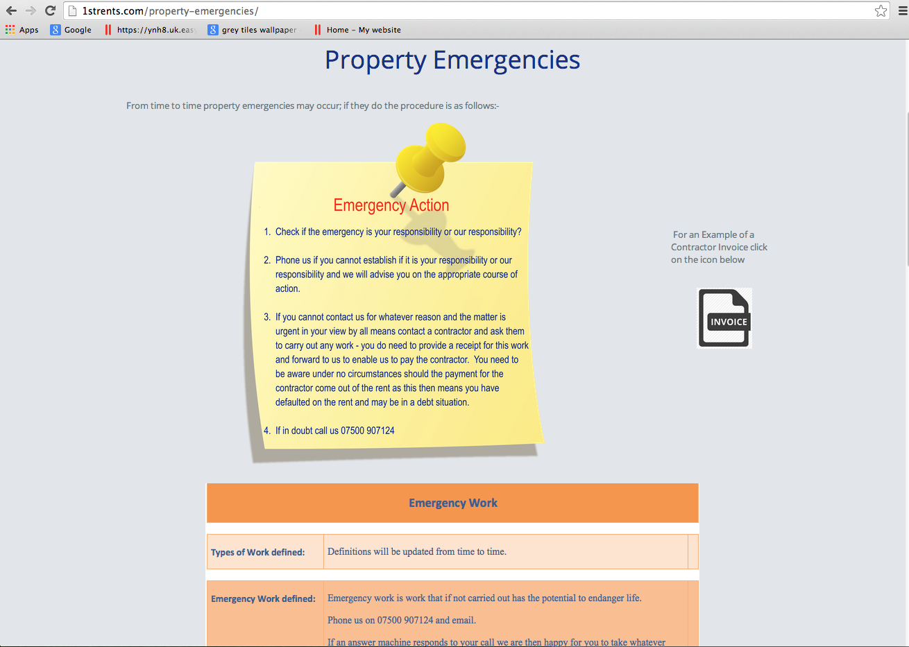 1strents.com - Property Emergencies