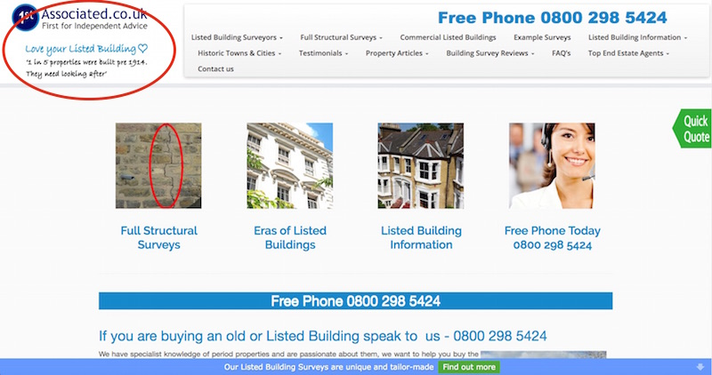 BritishListedBuildingSurveys - Home Page Logo