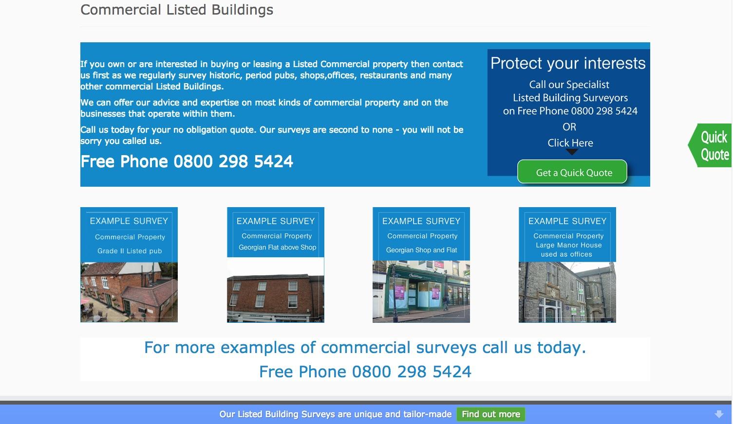 Britishlistedbuildingsurveys.com - Commercial Listed Buildings