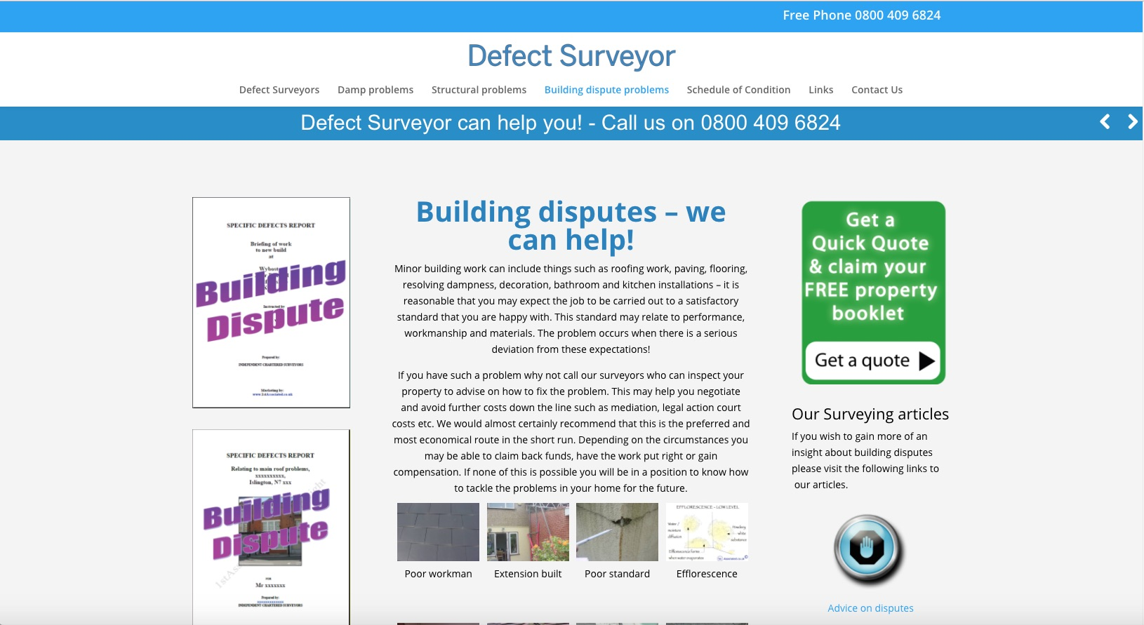 Defectsurveyor.co.uk - Building Dispute Problems