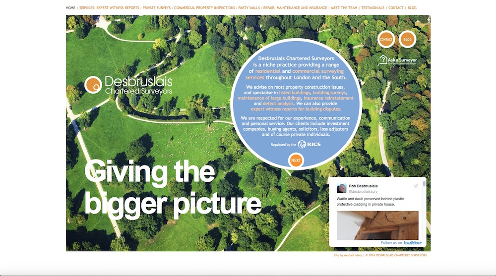 Desbruslais Chartered Surveyors - Giving The Bigger Picture