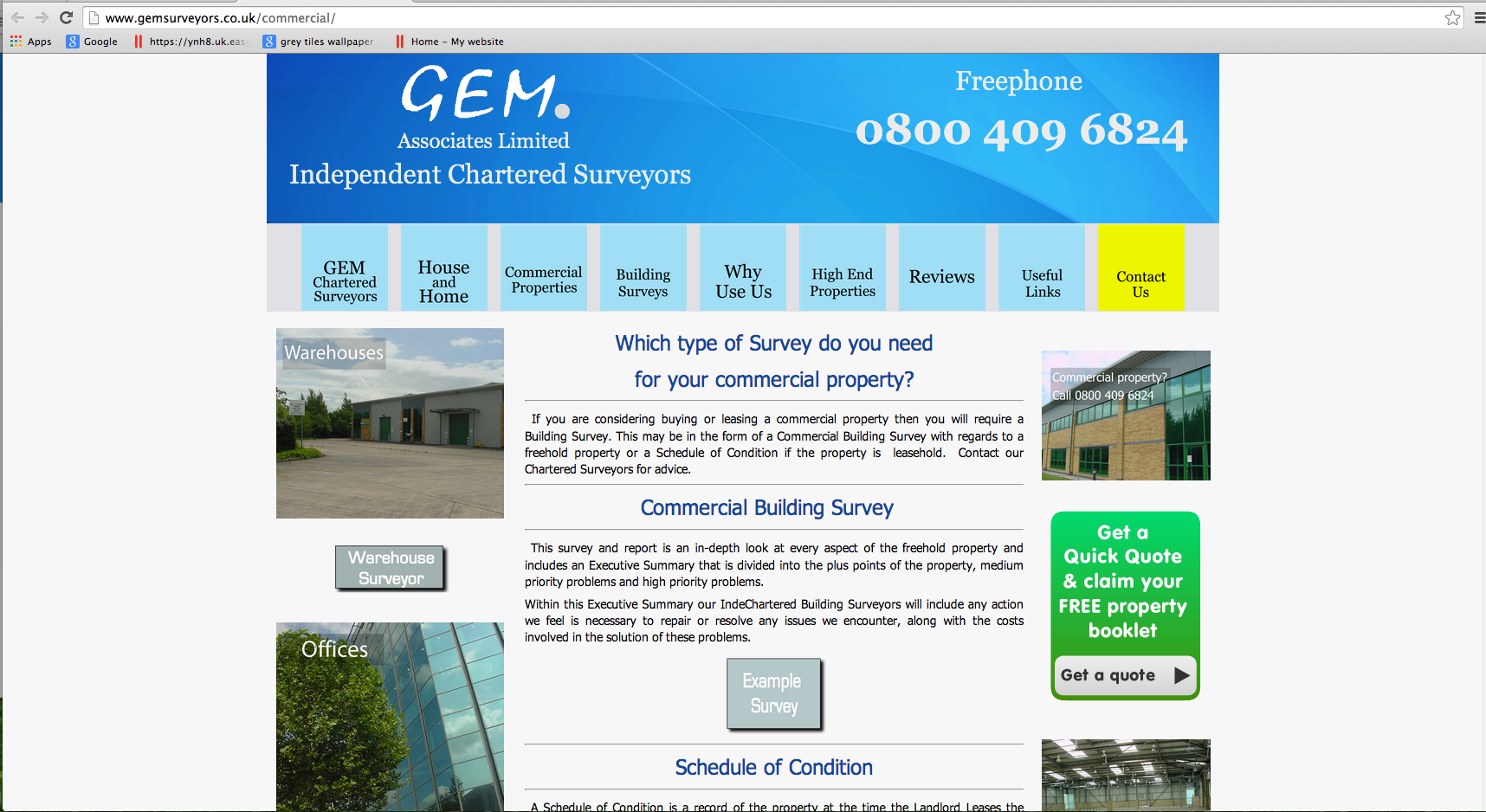Gemsurveyors.co.uk - Commercial Property Surveys