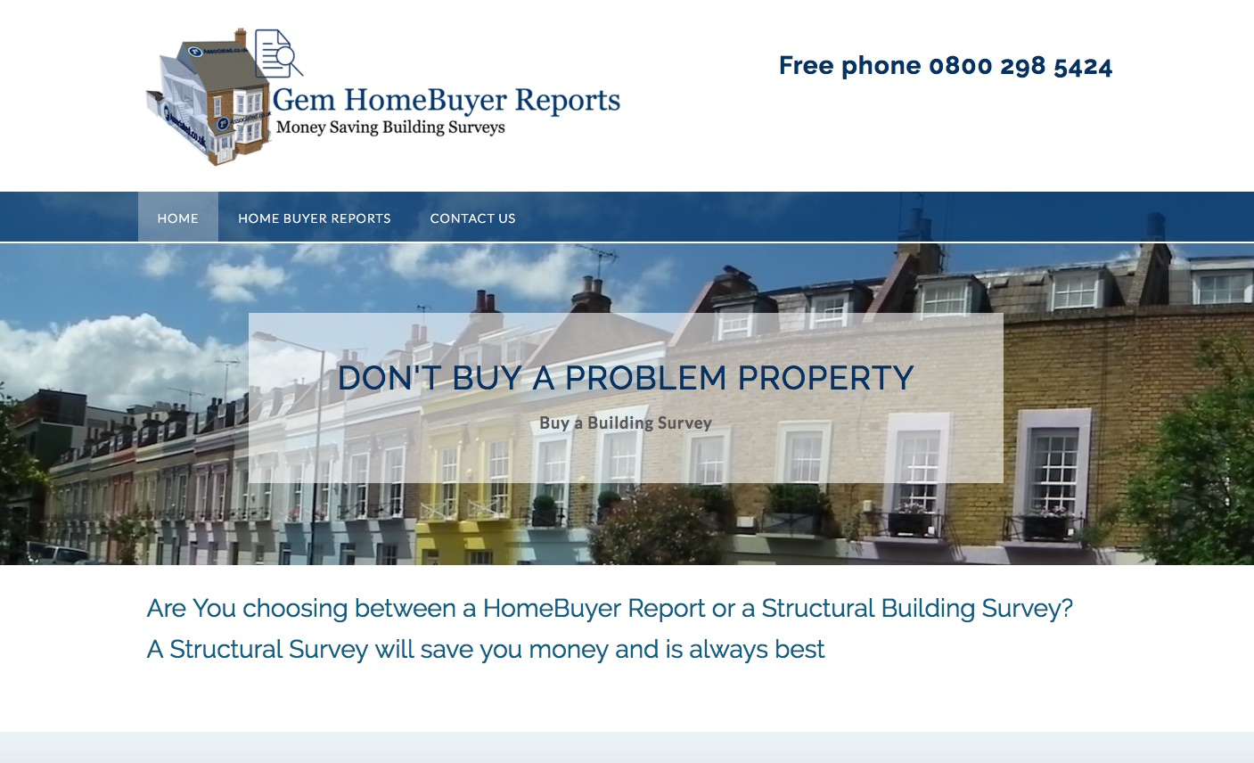 Website Brief - Take a Look at GemHomeBuyerReports.co.uk