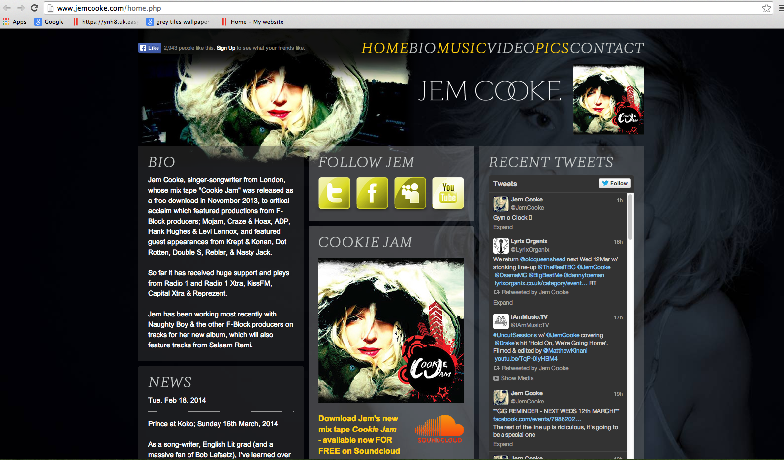 www. JemCooke.com Website Review