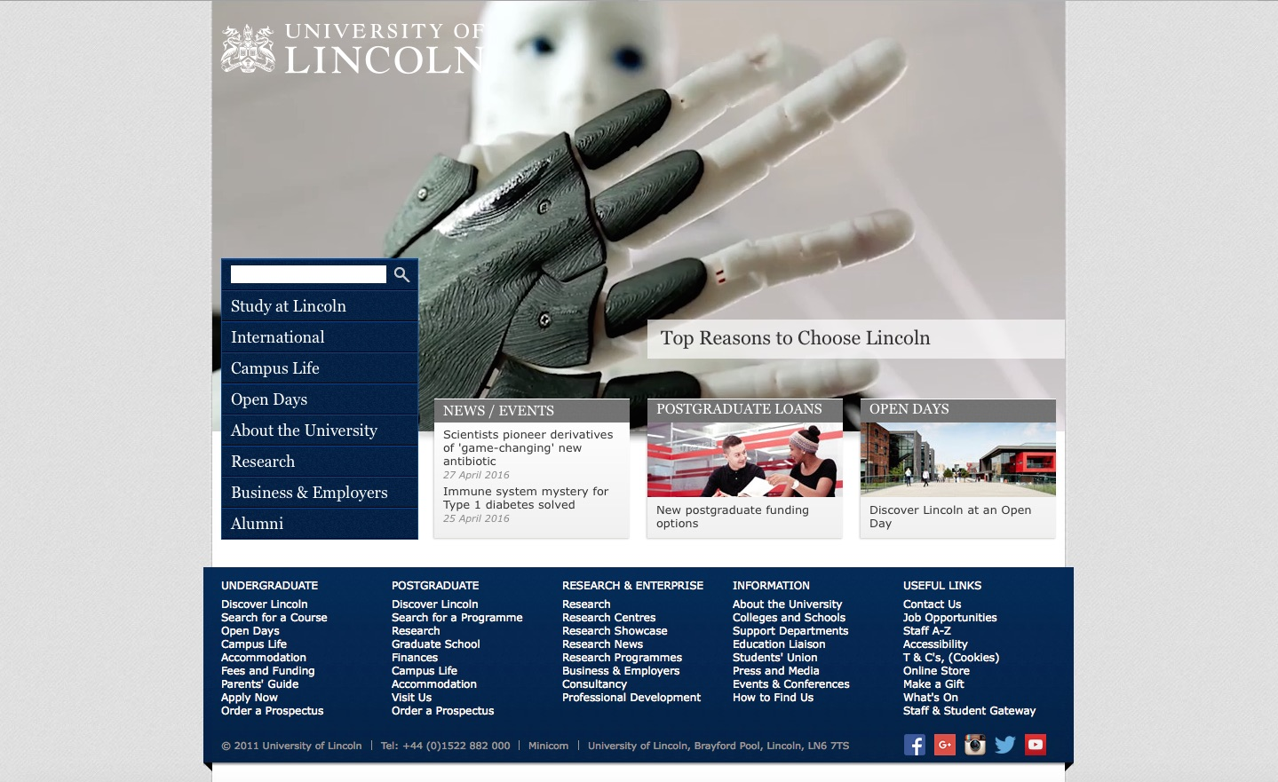 www.Lincoln.ac.uk Website Review