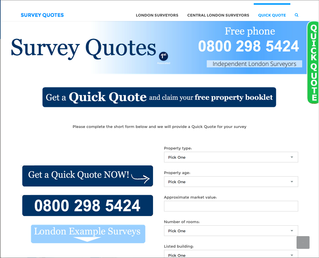 Survey Quotes Website