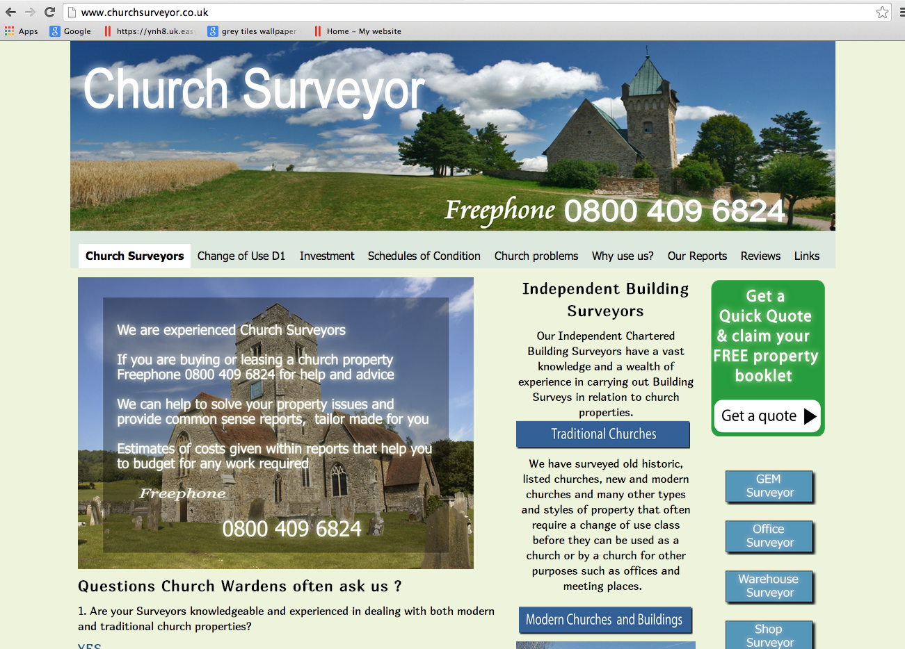 Website Brief - ChurchSurveyor.co.uk