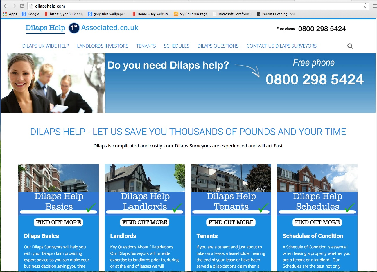 Website Brief - DilapsHelp.com
