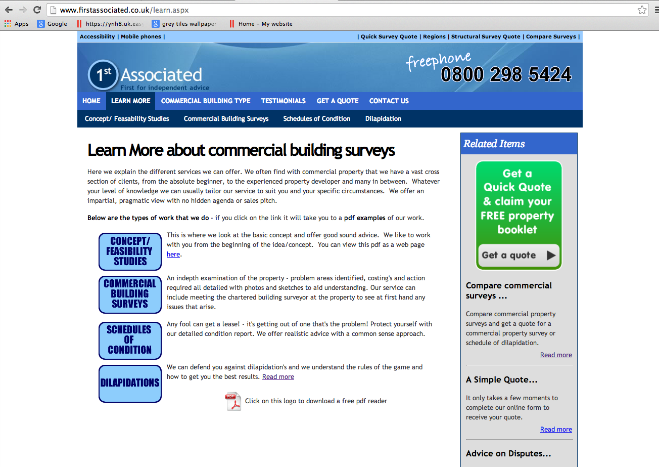 Firstassociated.co.uk - Learn More About Commercial Building Surveys
