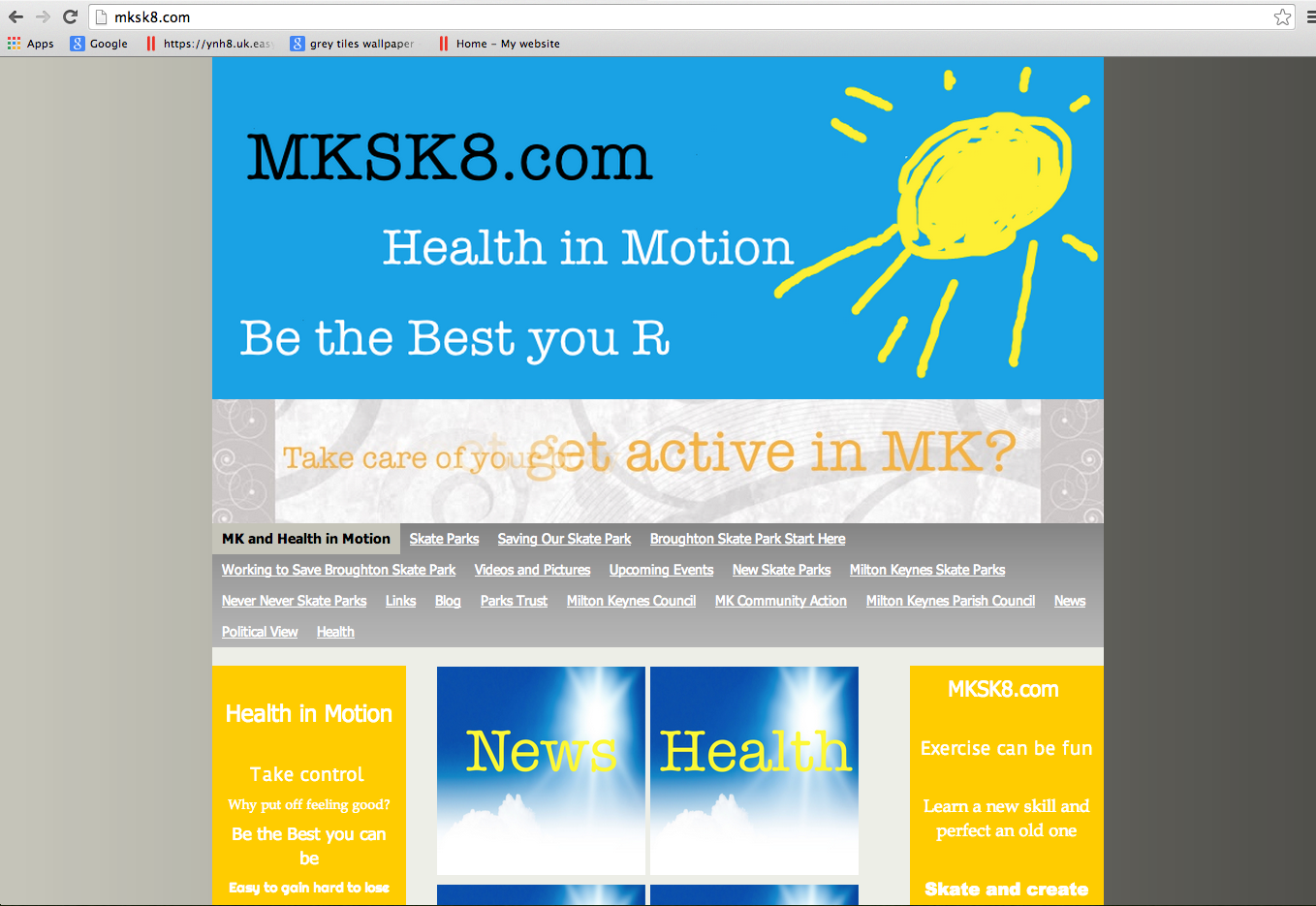 Website Brief - Take a Look at MKSK8.com