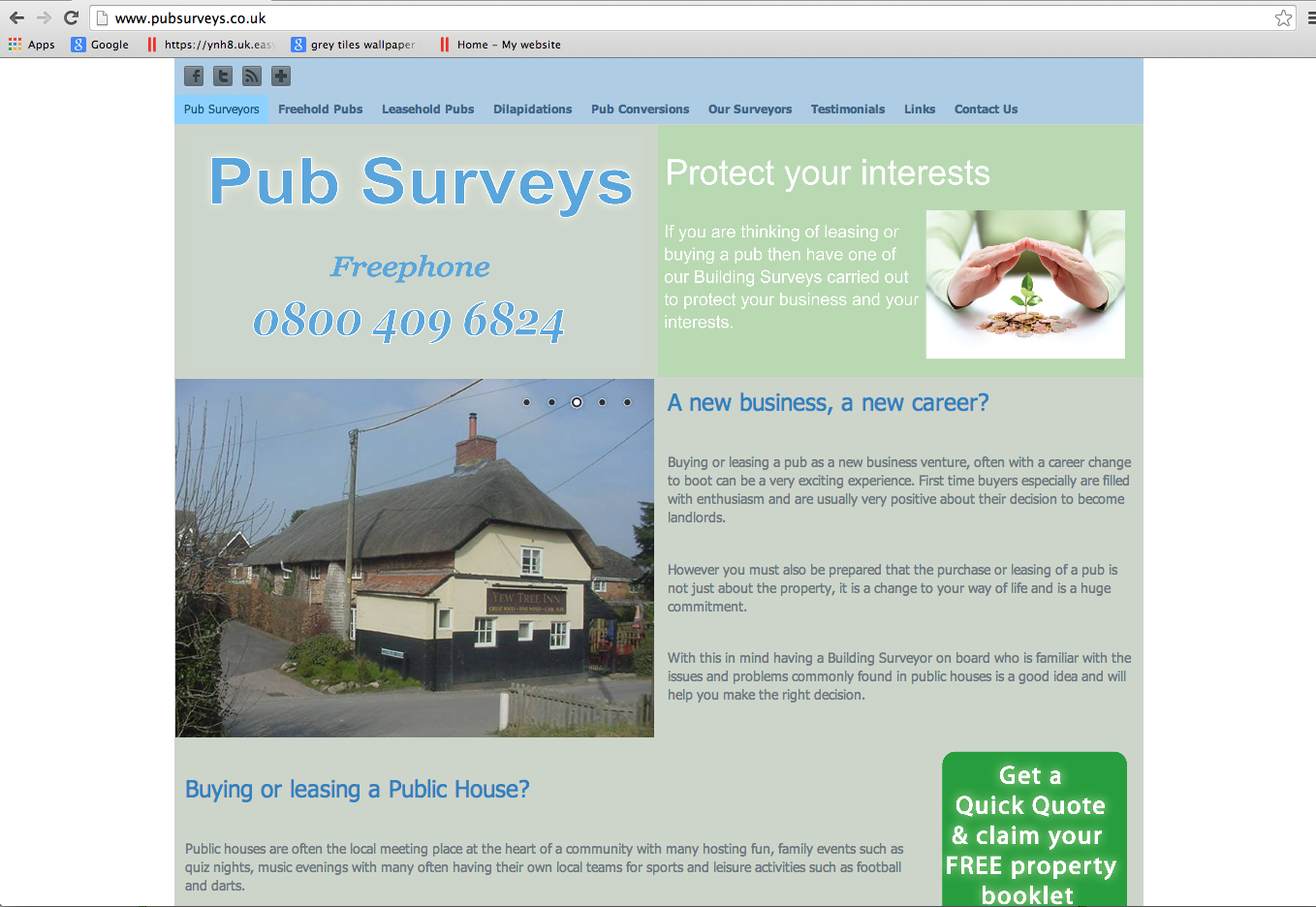 Website Brief - pubsurveys.co.uk