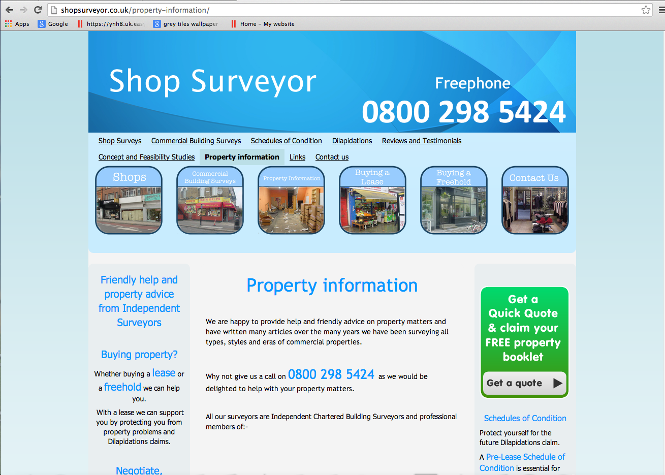 Shopsurveyor.co.uk - Property Information