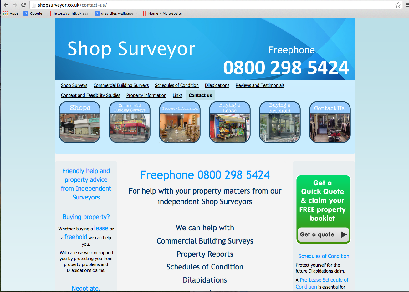 Shopsurveyor.co.uk - Contact Us