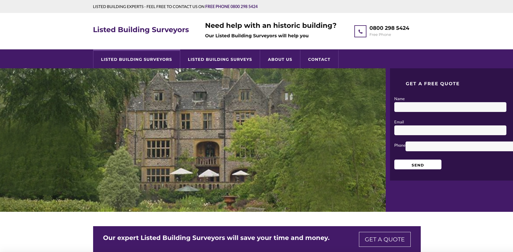 Take a Look at www.britishlistedbuildingsurveys.co.uk